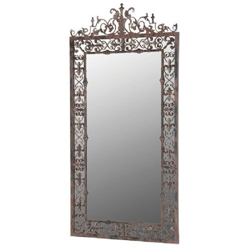 Ornate Distressed Frame Mirror